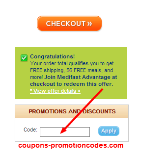 how to use medifast coupons