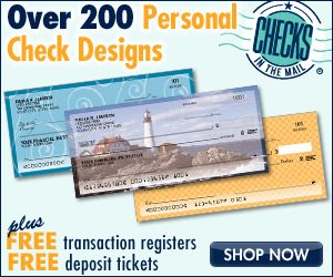 Start your order by saving on high quality checks and more with Checks in the Mail online coupons. Free shipping - offer code Checks in the Mail frequently offers free shipping offer codes, so plan your order accordingly to save.