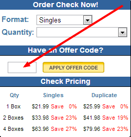 Checks unlimited coupon code 2018